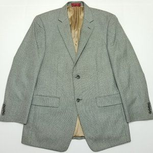 Izod Sport Coat Blazer - Gray - 38R - Notched Lape